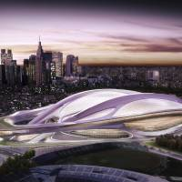 New legacy: The futuristic-looking Olympic Stadium planned for the 2020 Tokyo Games has been greeted with opposition from several critics due to its size and cost. | AP