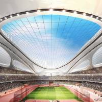 Spacious: A computer-generated image of the planned Olympic Stadium for the 2020 Tokyo Summer Games. | AP