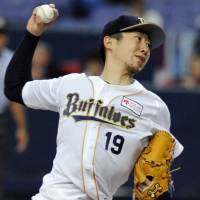 Up in the air: Buffaloes hurler Chihiro Kaneko will have the option of becoming a domestic free agent this year. | KYODO