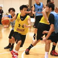 Dynamite: Japan point guard Yuki Togashi, who led the bj-league in assists last season, could be invited to an NBA training camp after his showing in the Summer League. | KAZ NAGATSUKA