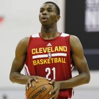 Short stay: Cleveland center Andrew Wiggins, the No. 1 pick in the 2014 NBA Draft, will be traded to Minnesota as part of the deal for All-Star forward Kevin Love. | AP