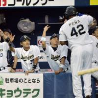 Through thick and thin: The Buffaloes credit their family atmosphere as one reason for the team's success this season. | KYODO