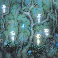 Spirit dwellers: The forests in Studio Ghibli's classic 'Princess Mononoke' are alive with not only the living.   MONONOKE HIME (PRINCESS MONONOKE) © 1997 NIBARIKI — GND; ALL DRAWINGS AND IMAGE ART © 1997 NIBARIKI; ALL RIGHTS RESERVED; © 1997 STUDIO GHIBLI