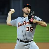Back on the prowl: Tigers pitcher Justin Verlander prepares to deliver against the White Sox on Friday. | REUTERS