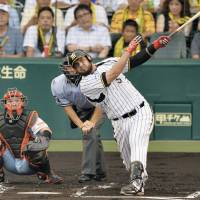 Hungry for more: Mauro Gomez hit 19 home runs and drove in 83 runs in his first 103 NPB games. | KYODO