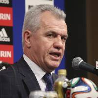 Aguirre embraces 'massive challenge' as Japan's new soccer boss
