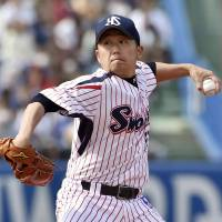 Mr. Reliable: Masanori Ishikawa has been a steady presence on the mound as well as a fan favorite since joining the club in 2002.   KYODO