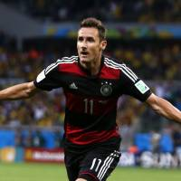 A legendary career: Germany striker Miroslav Klose has scored a record 16 World Cup goals. | REUTERS