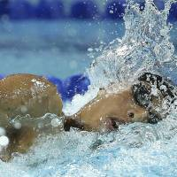 Another day, another medal: Kosuke Hagino finishes second overall in the 400-meter freestyle final at the Pan Pacific Championships on Saturday in Gold Coast, Australia. Hagino took the silver in 3 minutes, 44.56 seconds at the Gold Coast Aquatic Centre. | AP