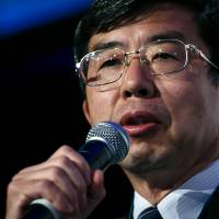 Takehiko Nakao, president of the Asian Development Bank, speaks at the IIF G20 conference in Sydney in February. | BLOOMBERG