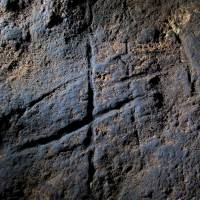 A rock engraving at Gorham's Cave in Gibraltar could be proof that Neanderthals were more intelligent and creative than previously thought. | AP
