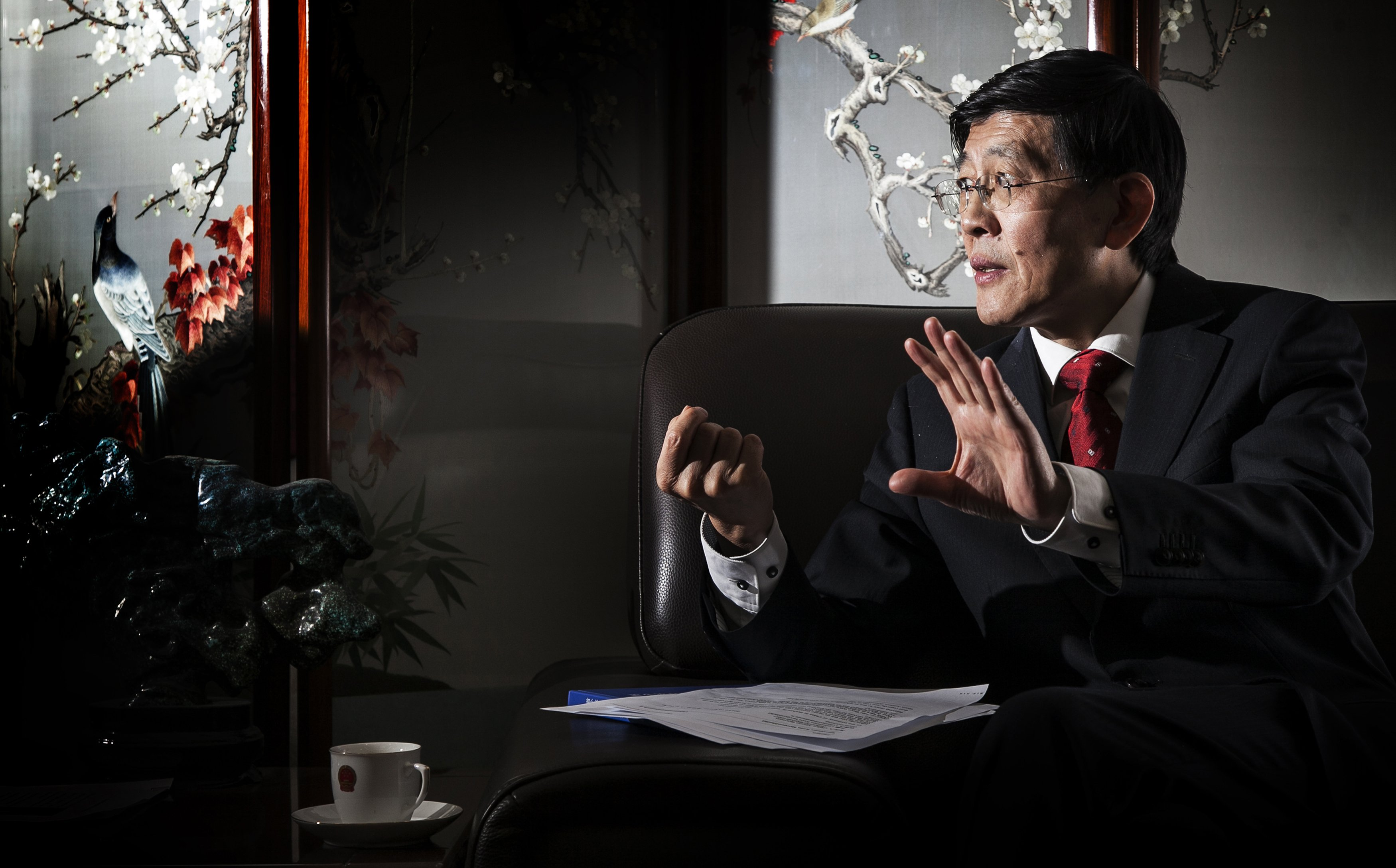 China's Ambassador to Iceland Ma Jisheng speaks during an interview at his residence in Reykjavik on Oct. 25, 2013. China's Foreign Ministry refused to say on Sept. 17, 2014 where its ambassador to Iceland was or who was even representing Beijing in the country, following reports he had been arrested by state security for passing secrets to Japan. | REUTERS