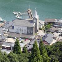 The village of Sakitsu in Amakusa, Kumamoto Prefecture, where Christians practiced their faith despite a ban in the 17th century, is one of several Christian sites the government will put forward this month as candidates for a 2016 UNESCO World Heritage listing.   KYODO