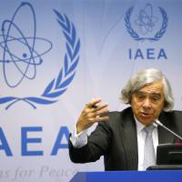 U.S. Secretary of Energy Ernest Moniz addresses a news conference at the International Atomic Energy Agency headquarters in Vienna on Sept. 22. | REUTERS