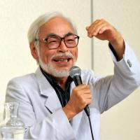 Hayao Miyazkai speaks about his retirement plans at a  news conference in September 2013.  | YOSHIAKI MIURA
