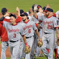 The Williams way: Second baseman Asdrubal Cabrera (3) and his Washington Nationals teammates are playing a gutsy brand of baseball under first-year skipper Matt Williams. | REUTERS/USA TODAY SPORTS