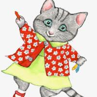 Oh Yoko: The titular kitten from Rosemary Wells' 'Yoko' series of children's books, which focuses on a Japanese feline's experiences at an American school.