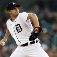 Mad Max: Tigers starter Max Scherzer pitches against the Twins on Thursday in Detroit. The Tigers won 4-2. Detroit leads the AL Central by two games. | USA TODAY SPORTS