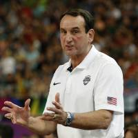 Impressive record: Mike Krzyzewski, the head coach at Duke University, has piloted the U.S. national team since 2006 and won two Olympic gold medals and two world titles. | REUTERS