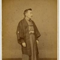 Hearn in formal Japanese attire, Matsue | COURTESY OF THE KOIZUMI FAMILY COLLECTION