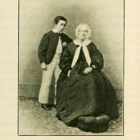Irish connection: Lafcadio Hearn poses for a photo when he was about 8 years old with his great-aunt, Sarah Brenane, in Ireland.   COURTESY OF THE KOIZUMI FAMILY COLLECTION