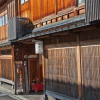 Time-weathered: Wood takes on many forms and tones in the teahouse frontages of Nishi Chaya. | STEPHEN MANSFIELD