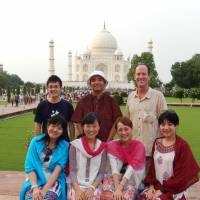 Stephen Hesse and students: It's very hard not to smile when you come face to face with the majesty of the Taj Mahal. | FURQAN ALI