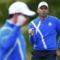 Faldo backs Garcia jibe