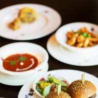 Little meals for little mouths: Yummy Mini Beef Burgers, Smiley Tomato Soup and other items from the ANA InterContinental Tokyo's Planet Trekkers menu.