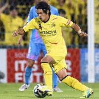 Top performer: Kashiwa Reysol striker Masato Kudo scored two goals in Tuesday's match against Sagan Tosu. Kashiwa earned a 2-0 win. | KYODO