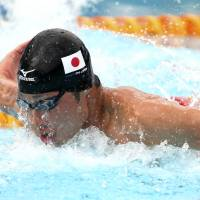 Lead by example: Kosuke Hagino, who beat Michael Phelps in the 200-meter medley final at the Pan Pacific Championships in Australia last month, will be a medal prospect for Japan at the Sept. 19-Oct. 4 Asian Games. | AP