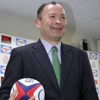 Japan coach Jones says team sets target of reaching 2015 Rugby World Cup quarterfinals