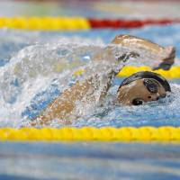 Earned the silver: Kohei Yamamoto competes in the men's 1,500-meter freestyle final on Friday in Incheon, South Korea. Yamamoto finished second in the race at the Asian Games. | REUTERS