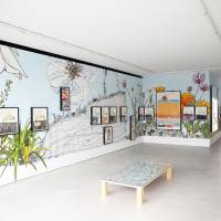 From America to Japan: An installation image of Dave Muller's 'Sublime Memory Garden,' currently showing at Blum & Poe's new space in Harajuku | BLUM & POE