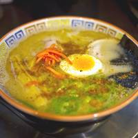Ramen became popular in the 20th century. With many regional differences, it is typical of B-class local gourmet food. This one is from Hakata in Fukuoka Prefecture. | MAKIKO ITOH
