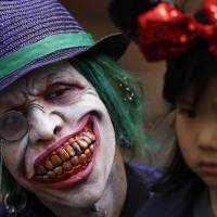 A ghoul to remember, at Sunday's Halloween parade in Kawasaki. | REUTERS