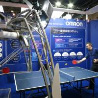 Omron's ping-pong robot built to rally