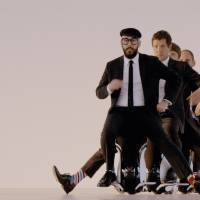 OK Go go through a final practice run before shooting the opening scene of 'I Won't Let You Down.' | COURTESY OF OK GO