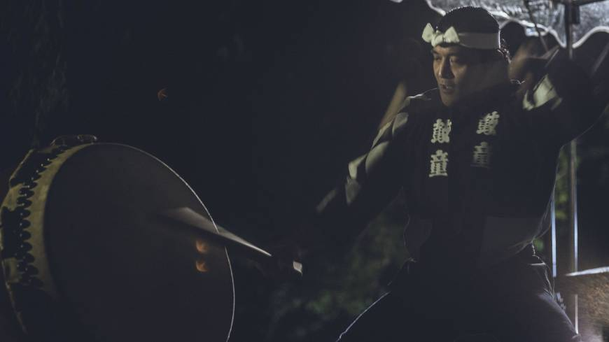 Night at the museum: Drummer Yosuke Oda from the prestigious Kodo ensemble performs as part of 'The Garden Beyond' at the Gallery of Horyuji Treasures at Tokyo National Museum. | YUSAKU AOKI/RED BULL CONTENT POOL