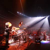 Headbanger's ball: X Japan perform at Yokohama Arena at the end of last month. It was the legendary visual-kei rock act's first show in the country in more than three years.