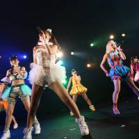 Not so hidden: Musical act Camouflage performs at last month's Moshi Moshi Nippon event in Tokyo.