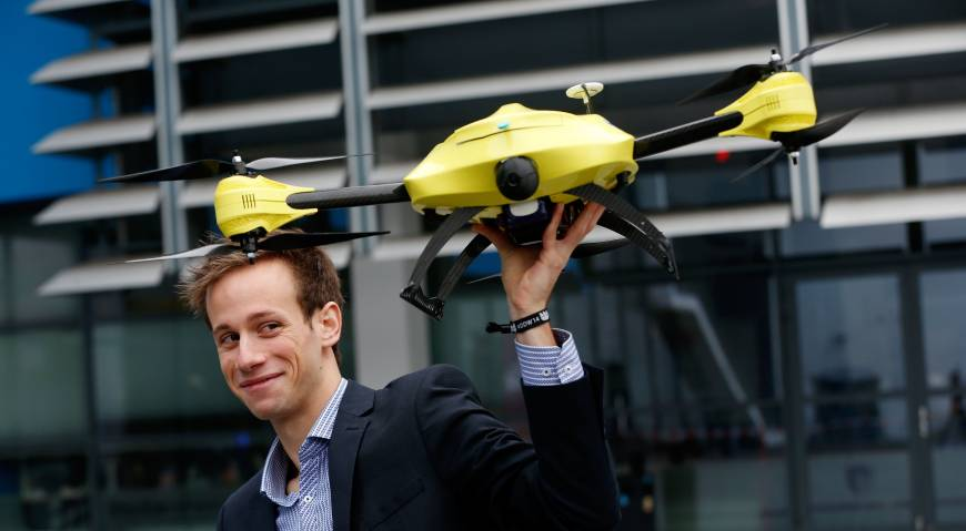 'Ambulance drone' prototype unveiled in Holland