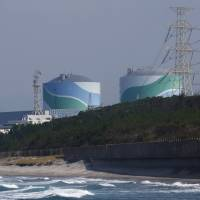Kyushu Electric Power Co.'s Sendai Nuclear Power Plant is seen in Satsumasendai, Kagoshima Prefecture, on Monday. | BLOOMBERG