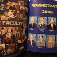 Then and now: Pages from the 2006 St. Mary's International School yearbook. Brother Lawrence Lambert was elementary school principal at St. Mary's before an allegation of child sexual abuse led to his suspension this year.