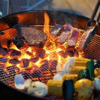 Into the flames: The Third Park in Tokyo combines day or night camping with a fully equipped barbecue — from meaty mains to molten marshmallows. The restaurant encourages visitors to bring items from home to add to the menu. | MAI HAYASHI