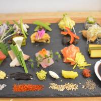 Sushi smorgasbord: The platters at Kyoto restaurant Awomb encourage diners to experiment and create their own unique sushi combinations. | J.J. O'DONOGHUE