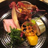 Delicate dining: Autumn flavors on the hassun platter at Ginza Maru. | ROBBIE SWINNERTON