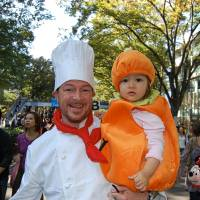 Halloween past: Taking kids to the Harajuku Halloween parade, which passes through Omotesando, is great for kids, with many fun, child-friendly costumes and shops passing out candy. | JASON JENKINS