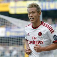 Honda tied for Serie A scoring lead after brace against Verona