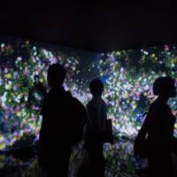 Blooming amazing: teamLab's 'Flowers and People, Cannot be Controlled but Live Together' is an immersive digital installation that bursts into colorful blooms as visitors approaches it. | MIO YAMADA